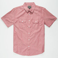 Retrofit Saul Mens Shirt Red  In Sizes