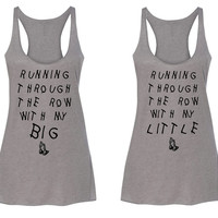 Sorority Running Through the Row Big and Little Tanks