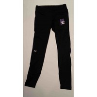 Northwestern Wildcats Under Armour FLY-BY Leggings with Printed N-Cat Design