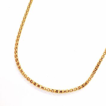 ON SALE - 20 inch 18K Gold Plated Hollow Mesh Link Stainless Steel Chain