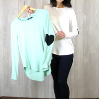 Heart Arm Patch Top