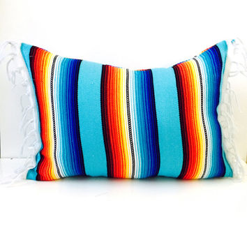 mexican blanket pillow / urban outfitters decor / summer pillow Hippie/boho/gypsy/anthropologie/urban outfitters/wholesale available