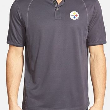Men's Tommy Bahama 'Firewall - Pittsburgh Steelers' Short Sleeve NFL Polo,