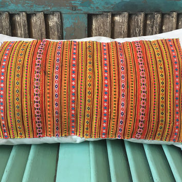 Handmade Decorative Throw Pillows with Handmade Ethnic Embroideries
