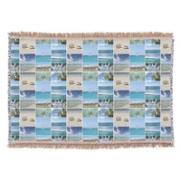 Scenic Caribbean Photo Collage Throw