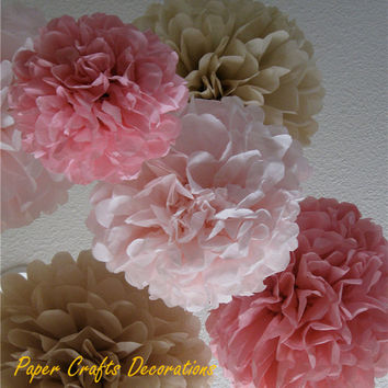 38 Colors 12inch (30cm) Fluffy Pre-cut Tissue Paper Pom Poms Rose Flower Balls Garlands Wedding Baby Shower Party Decorations