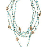 Virgins Saints & Angels 'Hamsa Magdalena' Turquoise Bead Rosary Necklace | Nordstrom