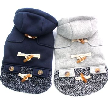 New arrival Boy Girl Dog Cat Hoody Sweater Pet Puppy Coat Jacket clothes Horns deduction design 5 sizes