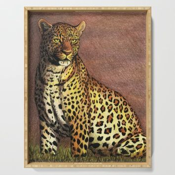 Leopard Serving Tray by savousepate