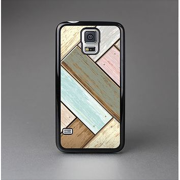 The Zigzag Vintage Wood Planks Skin-Sert Case for the Samsung Galaxy S5