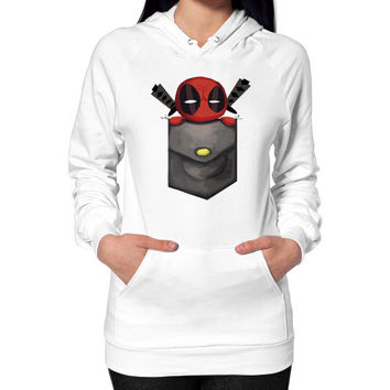 Deadpool Pocket Hoodie (on woman)