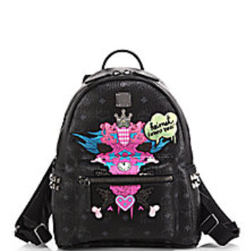 MCM - Heimat Loves You Small Coated-Canvas Backpack  - Saks Fifth Avenue Mobile