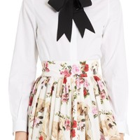Dolce&Gabbana Cotton Poplin Blouse with Bow | Nordstrom