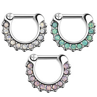 Septum Clicker with Round Gems