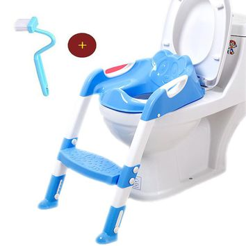 Baby Potty Trainer Seat With Adjustable Ladder