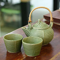 Ceramic tea set, Banana Frog (set for 2)