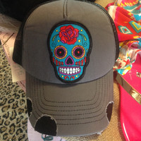 Ali Dee Collection Sugar Skull Cap