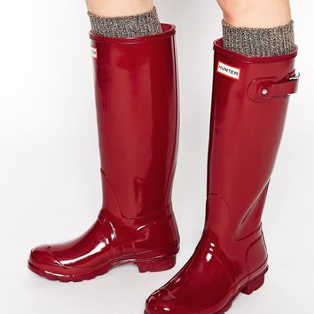 Hunter Originals Damson Gloss Wellington Boots