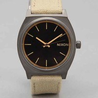 Nixon Time Teller Canvas Watch- Khaki One