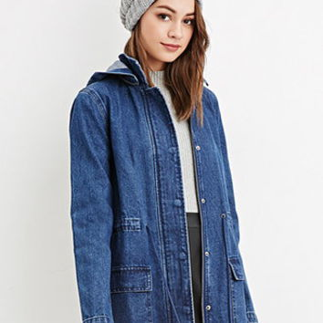 Hooded Denim Utility Jacket