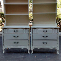 For Kimberley-Vintage French Provincial Chest with Hutch by The Morris Company of California ( La Coquette)