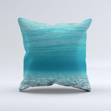 Under The Sea V3 Scenery Ink-Fuzed Decorative Throw Pillow