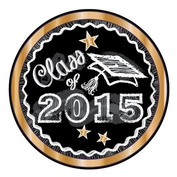 Gold Chalkboard Graduation Stickers