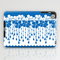 Hibiscus Neg Positive: Blue iPad Case by Eileen Paulino