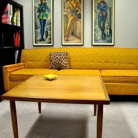 FANTASTIC Retro Mid Century Modern Large Square by TickleMeVintage