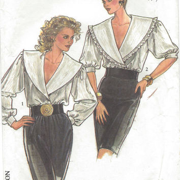 Sewing Pattern, Misses Blouse Pattern, Vintage New Look Pattern 6080