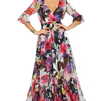 Atomic Multi Colored Floral Bohemian Maxi Dress