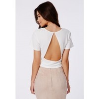 Missguided - Joely White Backless Shell Top