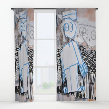 PEOPLE iN SUiTS Window Curtains by Azima