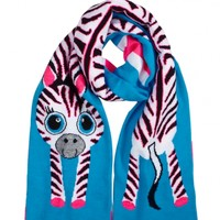 Critter Knit Zebra Scarf | Girls Cold Weather Gear Hot Shops | Shop Justice