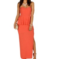 Promo-coral Red-carpet Ready Dress