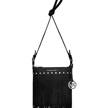 MICHAEL Michael Kors Billy Fringe Small Messenger Bag -