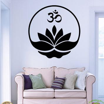 Wall Stickers Vinyl Decal Buddha Buddhism Yoga Om Zen Meditation Decor Unique Gift (z2071)