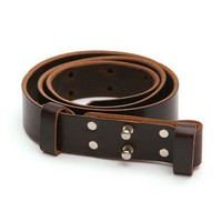 Billy Kirk Double Collar Button Belt (Brown) from Oi Polloi