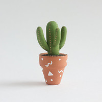 Miniature Cactus - miniature garden, dollhouse miniature plant pot, table decor, 1:12 scale cactus figurine, painted cactus pots