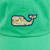 Whale Patch Baseball Hat with Cheeseburgers
