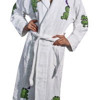 Happy Frog Applique Long Terry Loop Bathrobe