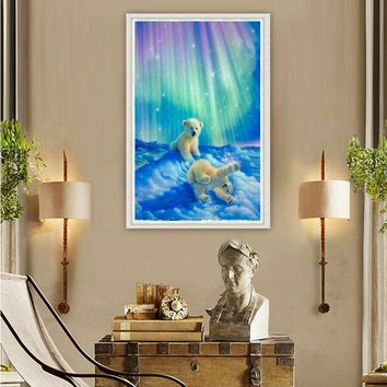 5D Diy Diamond Painting Cross Stitch Kits Cartoon Pattern Bear Arts Crafts Diamond Embroidery Kids Home Wall Decor Gifts