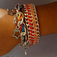 Leather Twister Bracelet Designer Bracelet with by GetShackled