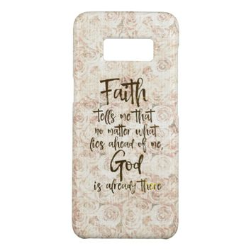 Vintage Shabby Roses with Faith Quote Case-Mate Samsung Galaxy S8 Case