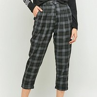Urban Renewal Vintage Remnants Dark Grey Checked Trousers - Urban Outfitters