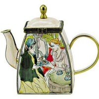 Afternoon Tea Party Mini Teapot by Mary Cassatt 4H