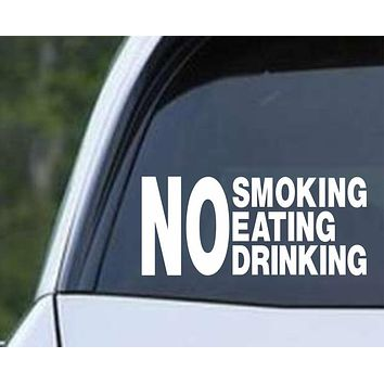 No Smoking Eating Drinking Taxi Cab Uber Business Die Cut Vinyl Decal Sticker