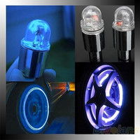 New Hot 1 Pair Motor Cycling Bike Bicycle Car Tyre Tire Valve LED Wheel Lights ( NO Battery)