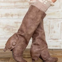 Teague Lace Boot Cuffs