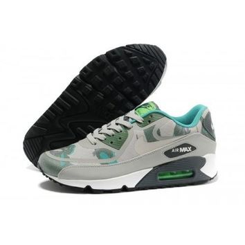Nike Air Max 90 Premium Tapes Men s Women s Running Shoes Gamma Green Black Spruce Min